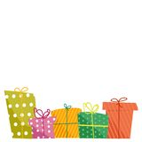 Cute gift boxes Stock Image