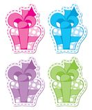Cute gift boxes Royalty Free Stock Photography