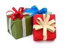 Cute gift boxes Royalty Free Stock Photos