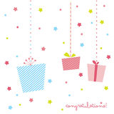 Cute gift card Royalty Free Stock Photography