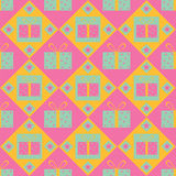 Cute gift pattern Stock Photos