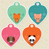 Cute gift tags with animals Royalty Free Stock Image