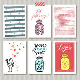 Cute gift tags. Love Stock Photography