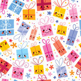 Cute gifts wrapping paper seamless pattern Royalty Free Stock Photos