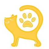 Cute ginger cat. Vector illustration of the cute ginger cat Royalty Free Stock Image