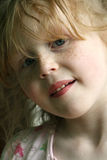 Cute ginger haired girl. Portrait of cute red haired young girl Royalty Free Stock Photography