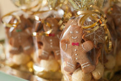 Cute gingerbread cookies Stock Photography