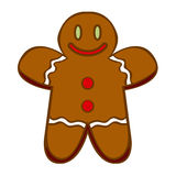 Cute Gingerbread Man Isolated On White Background. Vector Cute Gingerbread Man Isolated On White Background royalty free illustration