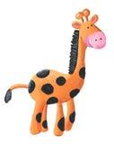 Cute Giraffe. Acrylic illustration of Cute Giraffe Stock Photo