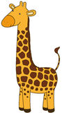 Cute Giraffe. Cartoon character, isolated, no gradients Royalty Free Stock Image
