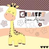 Cute giraffe from Africa vector illustration royalty free illustration