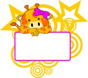 Cute giraffe baby girl copyspace Stock Photo