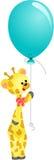 Cute giraffe with balloon. Scalable vectorial image representing a cute giraffe with balloon, isolated on white Stock Photo