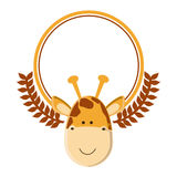 Cute giraffe cartoon Royalty Free Stock Photography