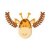 Cute giraffe cartoon Stock Photo