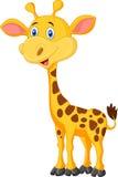 Cute giraffe cartoon Stock Photography