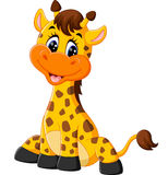 Cute giraffe cartoon. Illustration of Cute giraffe cartoon Royalty Free Stock Photo