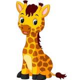 Cute giraffe cartoon. Illustration of Cute giraffe cartoon Royalty Free Stock Photography