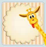 Cute giraffe on decorative background Royalty Free Stock Photo