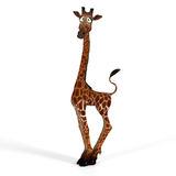 Cute giraffe with a funny face - lovely Royalty Free Stock Photos