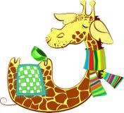Cute giraffe got flue. Cute giraffe cartoon character got flue and trying to heal Stock Illustration