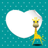 Cute giraffe greeting card Royalty Free Stock Photography