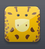 Cute giraffe icon Stock Image