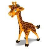 Cute Giraffe Illustration. A cute giraffe for children book style, cartoon illustration Royalty Free Stock Images
