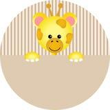 Cute giraffe round sticker Stock Photos