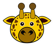 Cute Giraffe Vector. Cute animal faces in  (One of 25 of them Royalty Free Stock Photography