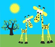 Cute giraffes Stock Images