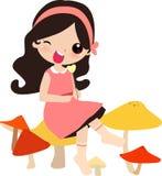 Cute girl stock illustration