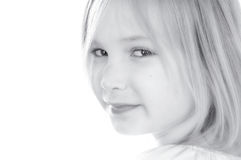 Cute girl. Cute blond smiling girl portrait Royalty Free Stock Photos