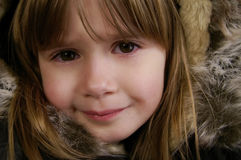 Cute girl. A portrait of a cute young girl royalty free stock photography