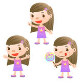 Cute girl royalty free illustration