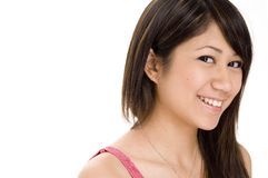 Cute Girl 4. A cute young woman with a great smile on white background Royalty Free Stock Photo