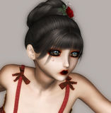 Cute Girl. Digital beauty for your artistic creations and/or projects Royalty Free Stock Photos