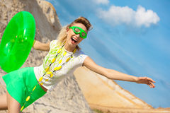 Cute girl in absolute summer positive! Royalty Free Stock Photography