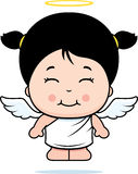 Cute Girl Angel. A cartoon cute girl angel with wings and a halo Royalty Free Stock Images