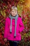 Cute girl in the autumn park Royalty Free Stock Photos