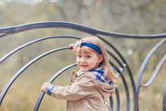 Cute girl autumn portrait Royalty Free Stock Photos