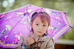Cute girl autumn portrait Royalty Free Stock Photography