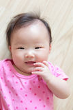 Cute girl baby smile  face Stock Photo