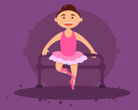 Cute girl ballerina Royalty Free Stock Photography
