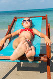 Cute girl on the beach Royalty Free Stock Photo