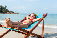 Cute girl on the beach Stock Photo