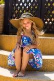 Cute girl on the beach Stock Image