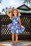 Cute girl on the beach Stock Photos