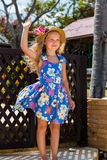 Cute girl on the beach Stock Photography