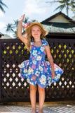 Cute girl on the beach Royalty Free Stock Photos